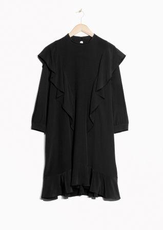 & Other Stories | Frilled Black Dress