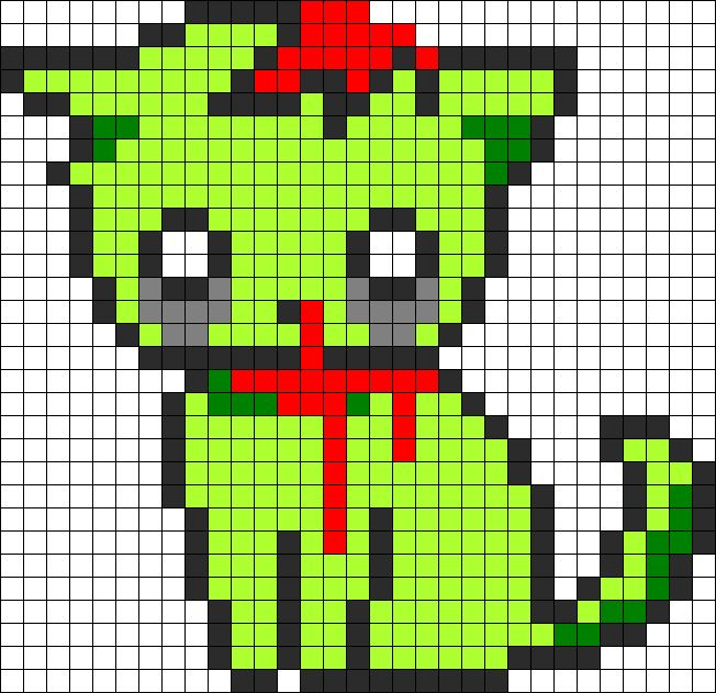 Zombie Kitty perler bead pattern