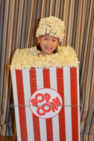 This Halloween costume's journey started with a moving box, duck tape and popcorn.. lots and lots of it! This is probably one of the easiest but coole...