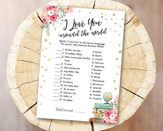 f185490107e Travel Bridal Shower Game I Love You Around the World Wedding Shower  Activity Floral Bachelorette Party Game Instant Download PRINTABLE 0030