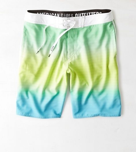 """AEO 10"""" Ombre Board Short, Green 