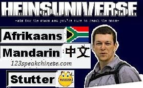Enter into Hein's Universe and learn Afrikaans,  Mandarin Chinese, how to live with stammering and more!