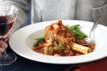 Paired with a glass of your favourite red, these melt-in-your-mouth lamb shanks make a great winter meal.