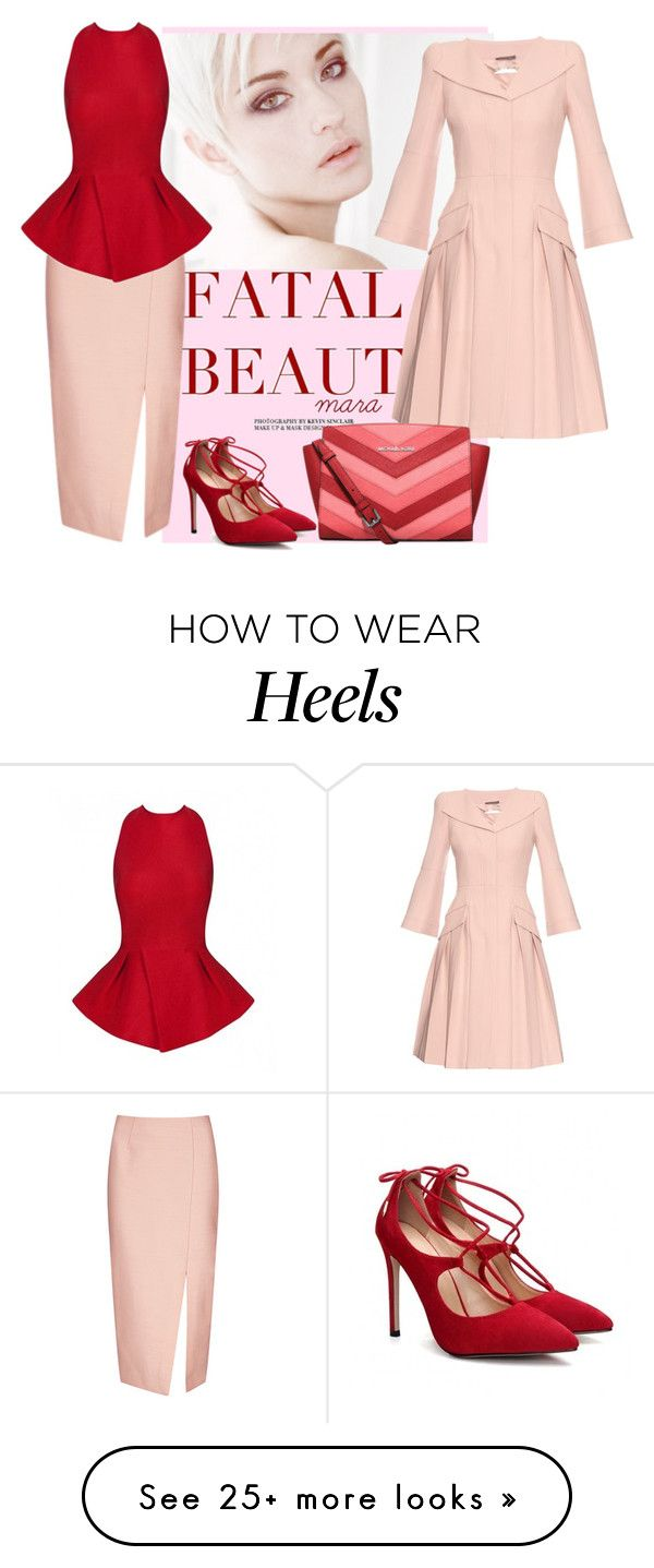 """""""Red meets Rose"""" by marastyle on Polyvore featuring C/MEO COLLECTIVE, Alexander McQueen, MICHAEL Michael Kors and Posh Girl"""