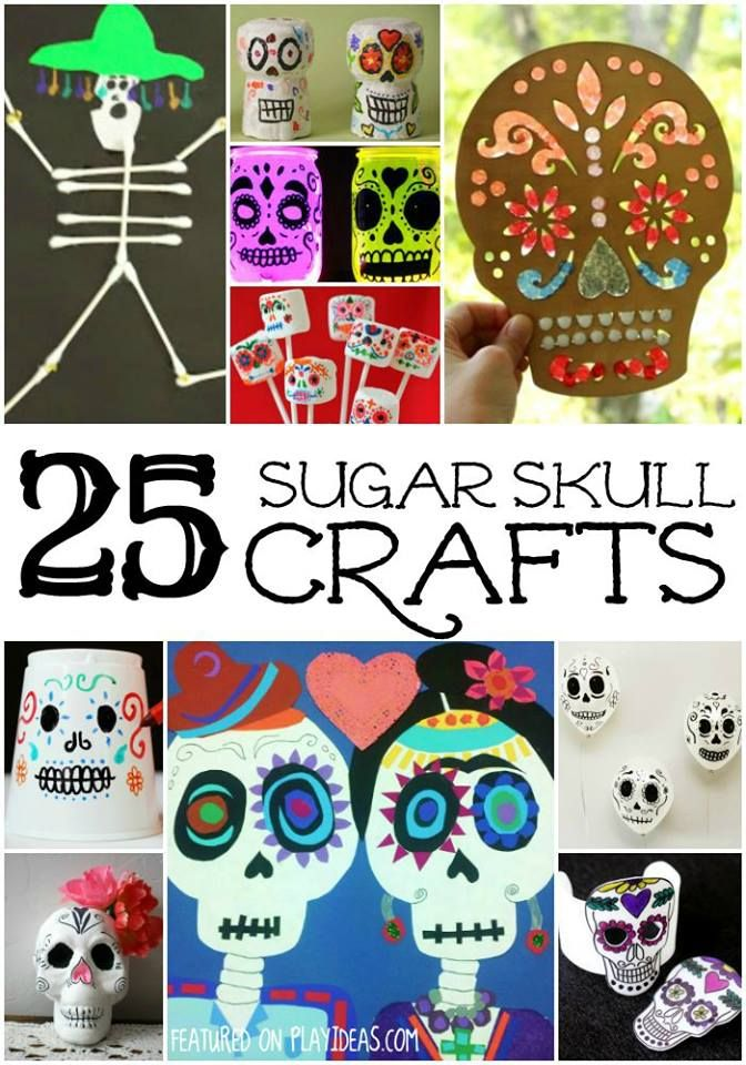 25 Day of the Dead Crafts for Kids. Celebrate Day of the Dead with your kids and these 25 great crafts. Click now.