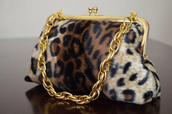 Animal Print Leopard Clutch Wedding Purse by loliscreations, $67.00