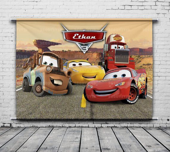 6def15f773118d Disney Cars, Birthday Backdrop, Cruz Ramirez, Mack, Mater, Race Car ...
