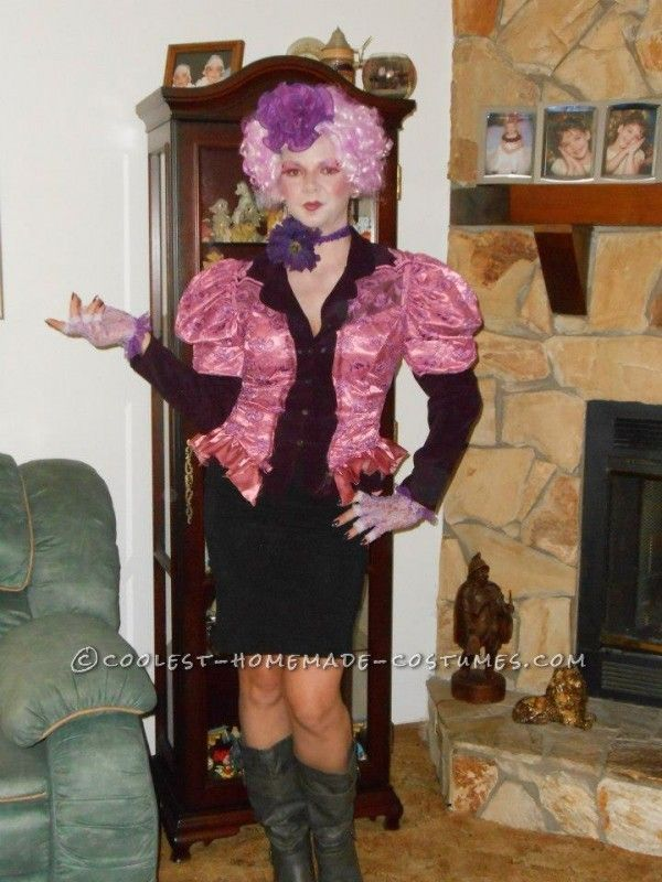Coolest Homemade Effie Trinket from The Hunger Games Costume ...This website is the Pinterest of costumes
