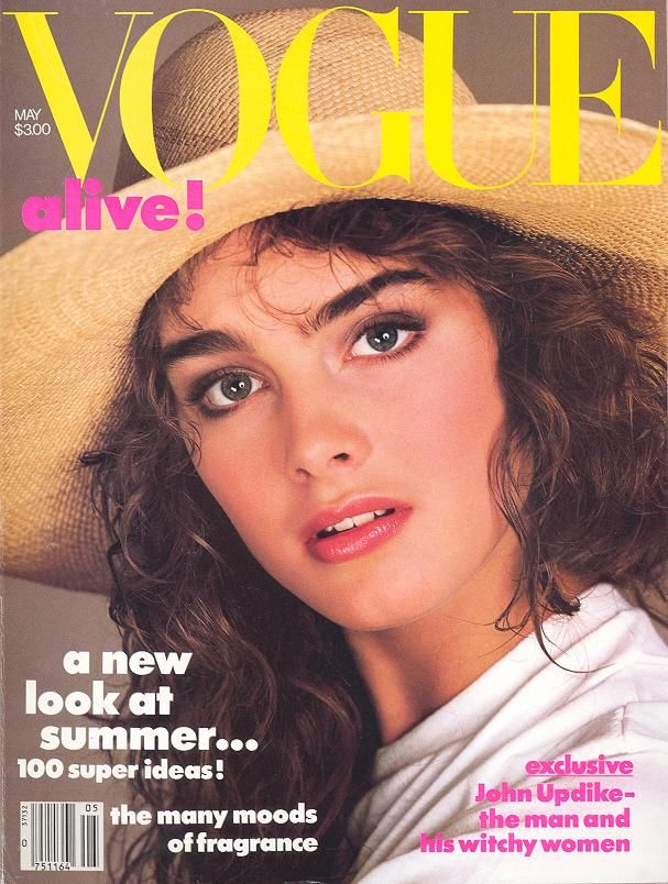 Brooke Shields in Ralph Lauren / Ralph Lauren for Hat Attack, Vogue, May 1984
