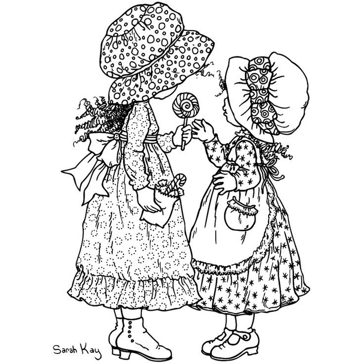 98 best ideas about holly hobbie sarah kay colouring for Holly hobbie coloring pages