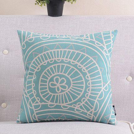 Devine Cushions Online - Teal Swirl Cushion 45cm - Australia