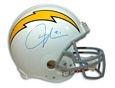 Autographed Ladainian Tomlinson San Diego Chargers White Throwback Proline Nfl Helmet