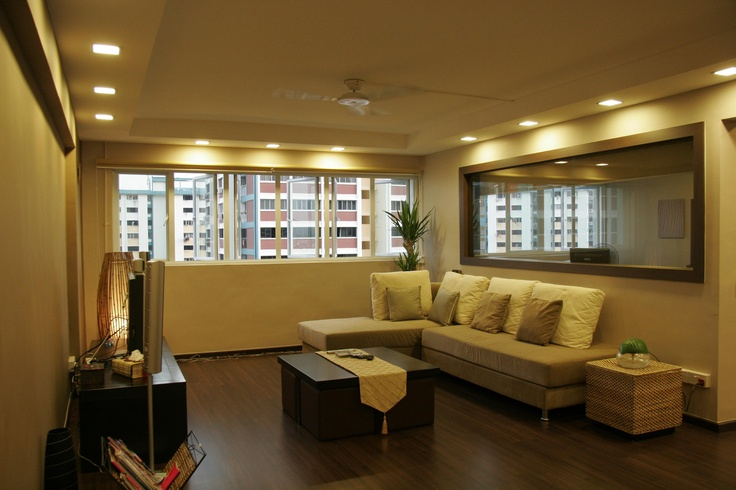 Hdb living room l box n ceiling ideas for home reno for Room decor ideas singapore