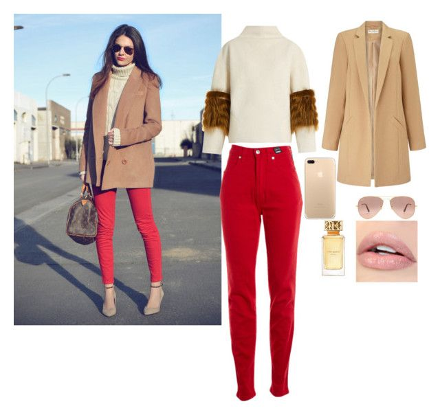 """""""a autumn day walking in the park"""" by rosela-1 on Polyvore featuring Saks Potts, Versace Jeans Couture, Miss Selfridge, Ray-Ban and Tory Burch"""