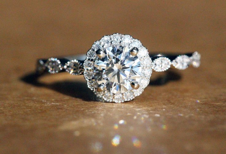 Petra Gems Ideal Cut Halo Diamond Engagement Ring!
