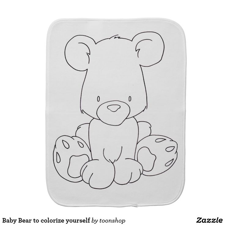 Baby Bear to colorize yourself