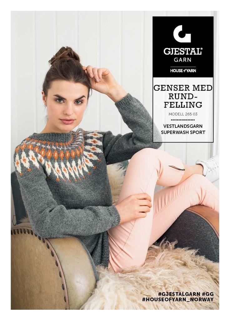 Dagens gratisoppskrift: Genser med rundfelling | Strikkeoppskrift.com