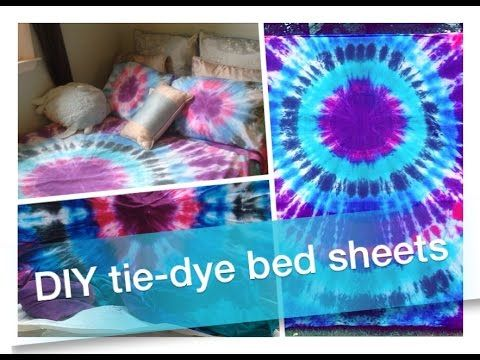 How To DIY: Tie-Dye Bed Sheets & Pillowcases!!  (+ large fabric https://www.pinterest.com/pin/224476362655759231/)