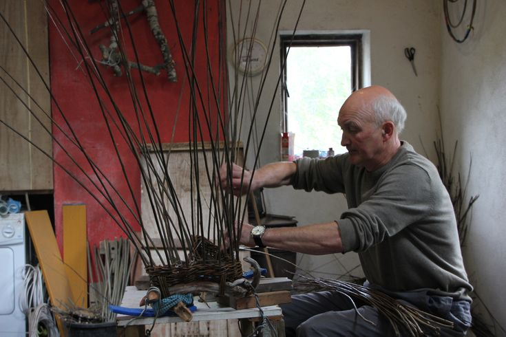From his workshop by Loch na Fooey, Irish maker Joe Hogan creates extraordinary baskets made from natural willows growing near his studio. Find his award-winning baskets on guildtrip.com coming November, 2015.  (Photo: Crafts Council UK)