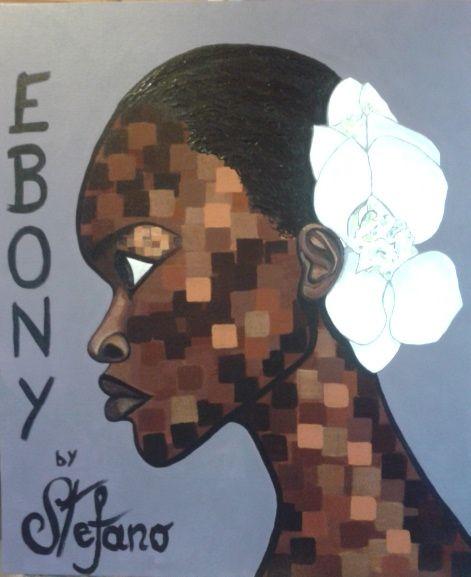 Ebony by STEFANO acrylic on canvas fashion art Alek Wek 2014 acrylic,painting,portrait,painter,alek wek,supermodel,model,fashion,fashion art,fineart,art,face