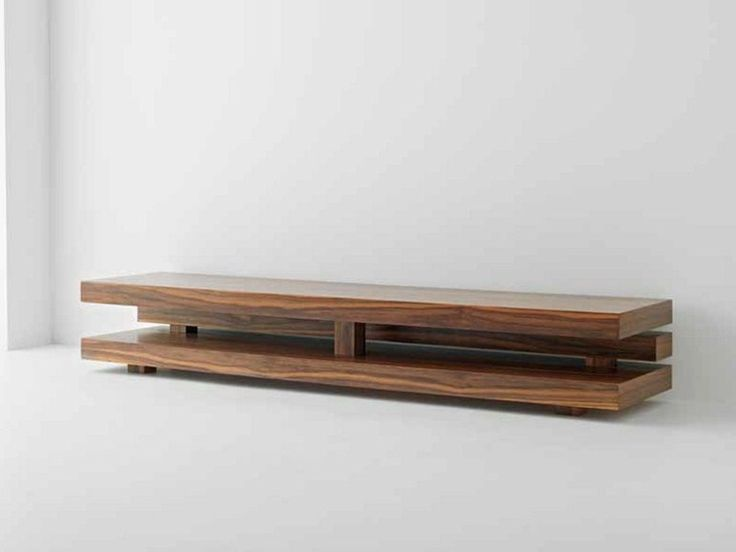 Mueble TV bajo de madera Colección Penrose by Passoni Nature | diseño AP Studio