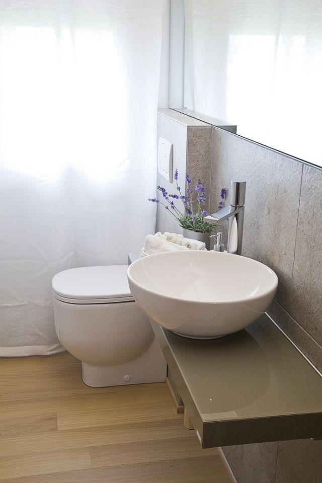 Ideen Kleine Bader Waschtisch Schwebend Rundes Aufsatzbecken Mit