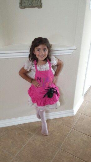 Nursery rhyme dress up. Little Miss Muffet!