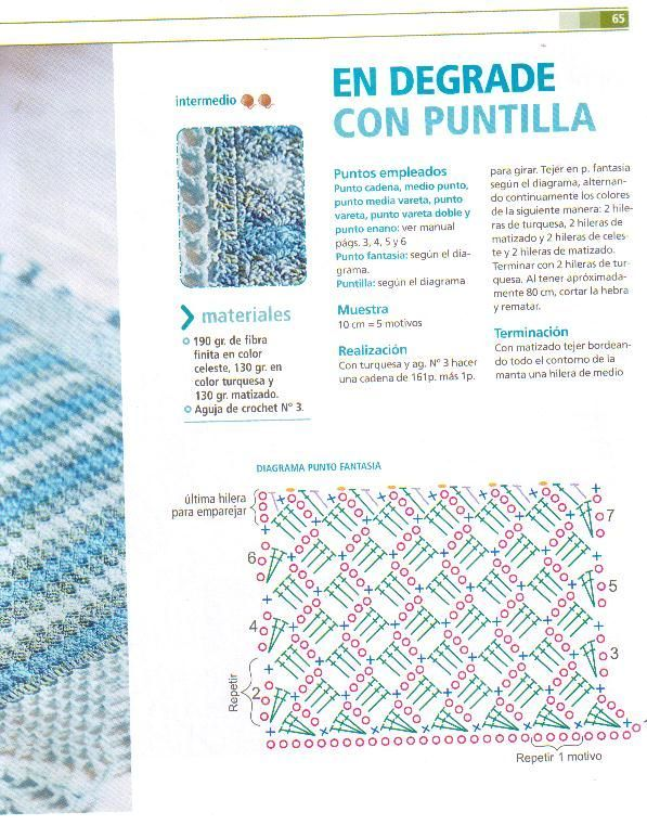 28 best Puntadas images on Pinterest   Crochet borders, Crochet ...