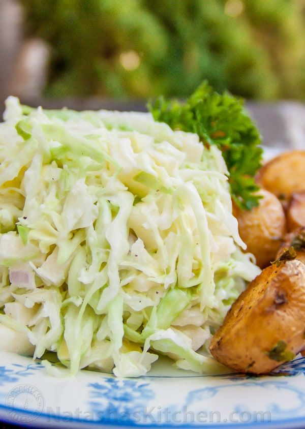 What to do with half a head of cabbage? I made this Creamy Apple Cole Slaw up last night and it paired really well with mashed potatoes and chicken.