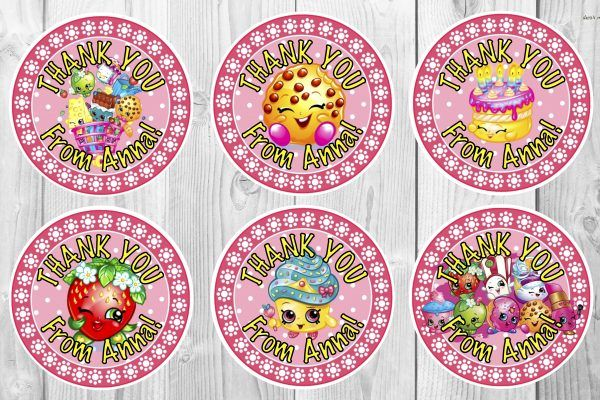 Personalised (or not) Shopkins Stickers