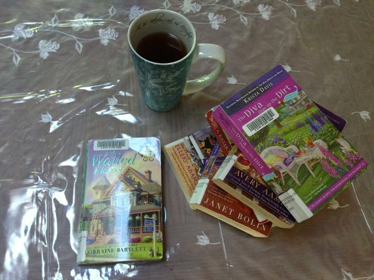 Tea and Mysteries I picked up and enjoyed from the Library...hooked on them and had to buy the series!