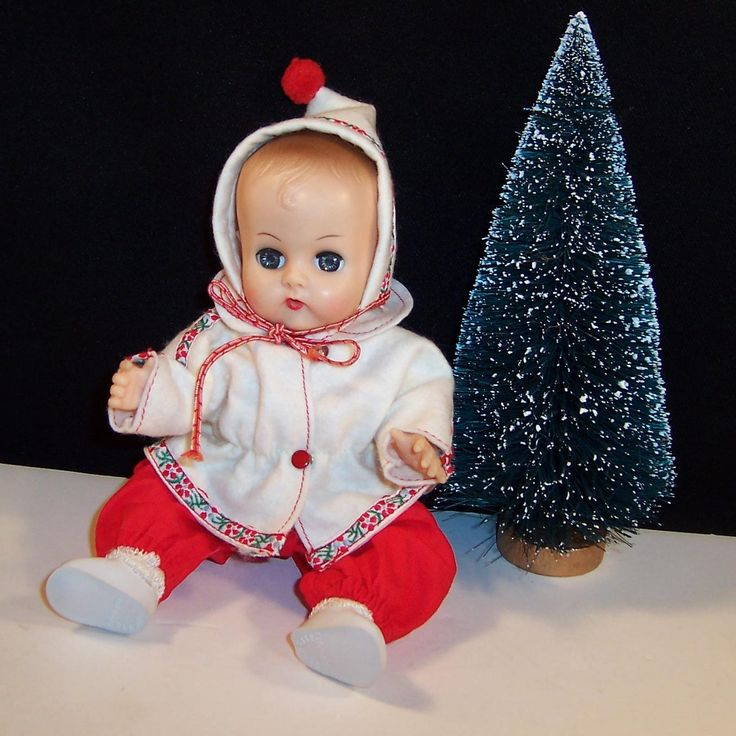 Vogue 1957 Ginnette Doll Baby, Snow Suit with Hat, Robe, Diaper, Socks from ruthsredemptions on Ruby Lane