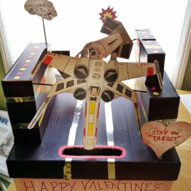 Valentine's Day box I constructed for a 9 year old Star Wars fan.
