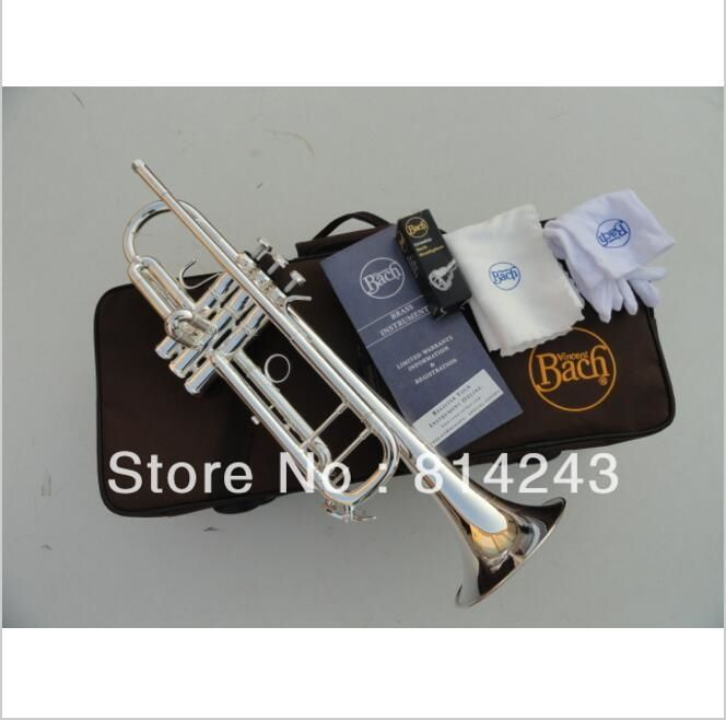 204.25$  Watch here - http://aliz9y.shopchina.info/1/go.php?t=553748172 - Bach LT180S-37 Professional Trumpet Bb Brass Small Music Instruments Series the Speaker Silvering Bb Trumpeta Mouthpiece 7 C  #bestbuy