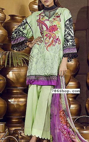 Mint Green Lawn Suit | Buy Ethnic Pakistani Dresses and Clothing online in USA, UK