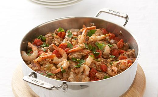 Jambalaya - A traditional New Orleans dish, perfect for weekend entertaining. Make it easily at home!