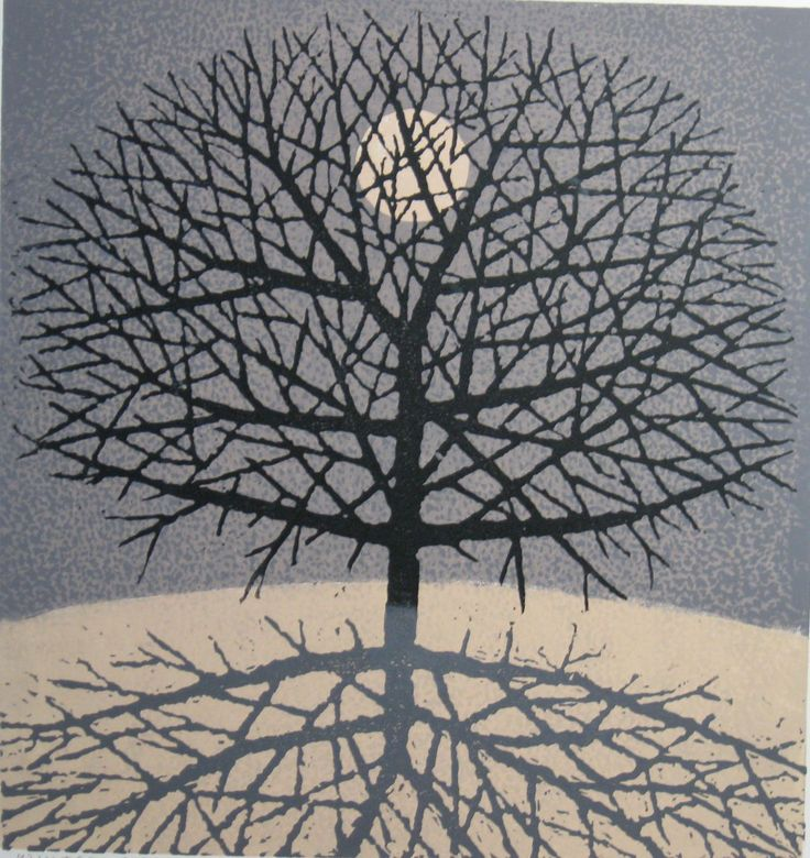 Winter Moon by Charles Beck---23 by 22 inches