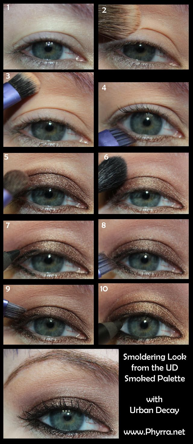 Urban Decay Smoked Palette Smoldering Look tutorial. Click thru to see more!