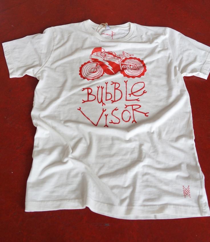 Barn Fresh X Bubble Visor Tee   Old White