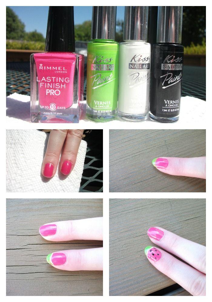 Watermelon Nail Design On a Budget!