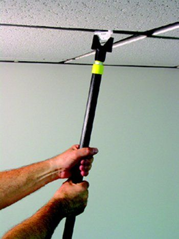I want one of these!  Ceiling Hanglers Grid Clip Put-er Up-er 1/pk