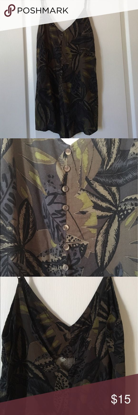 RVCA Floral Jumper - Size Small Super cute RVCA romper! Detailed buttons on the front, low back. Adjustable straps. Moving sale - everything must go! RVCA Dresses