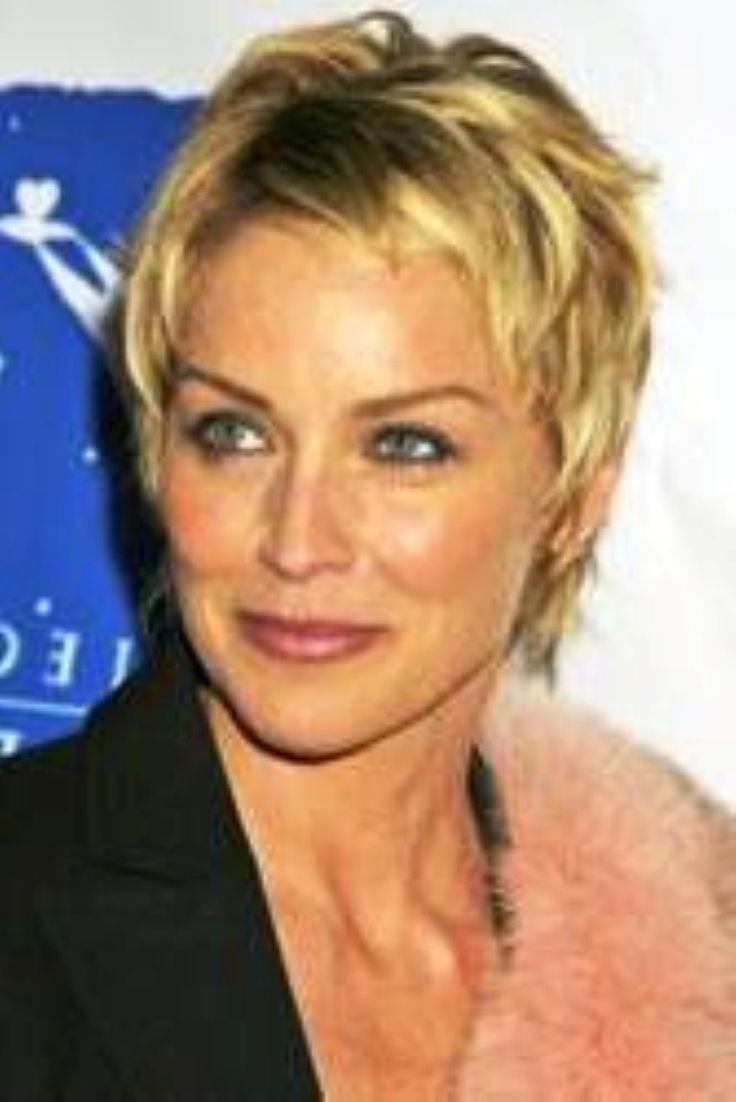 sharon stone short hairstyle pictures