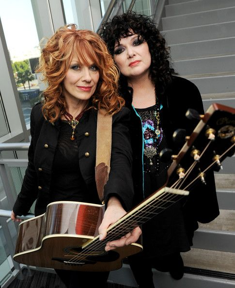 Ann and Nancy Wilson. Heart. My favorite women in music. Exceptionally talented.