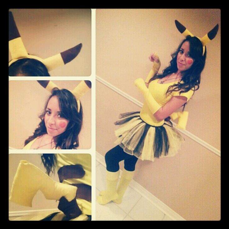 Hand Made Pikachu Costume! :3 Happy Halloween ~chu!