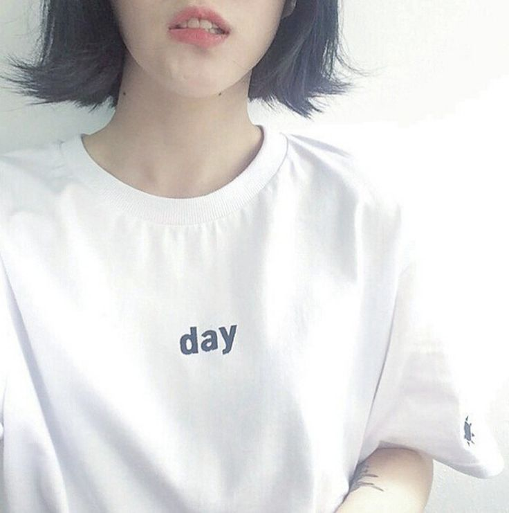 White Black Women T Shirt Harajuku Embroidery Letter Day Night College Casual Short-Sleeved T-Shirt Summer Tops Tees