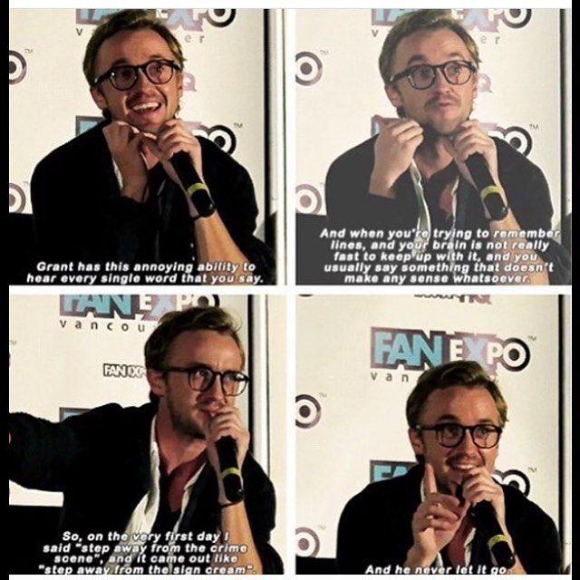 Tom Felton on Grant Gustin. My fangirl heart is so happy.