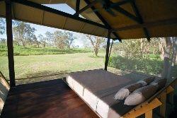 Safari Bungalow interior - Bamurru Plains, Northern Territory, Australia.  Luxury African Safari Style!