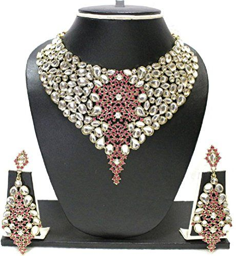 Amazing Indian Bollywood Gold Plated Pink Stone Wedding K... https://www.amazon.com/dp/B01N5P0OZI/ref=cm_sw_r_pi_dp_x_vUDzzb5JFQD8P