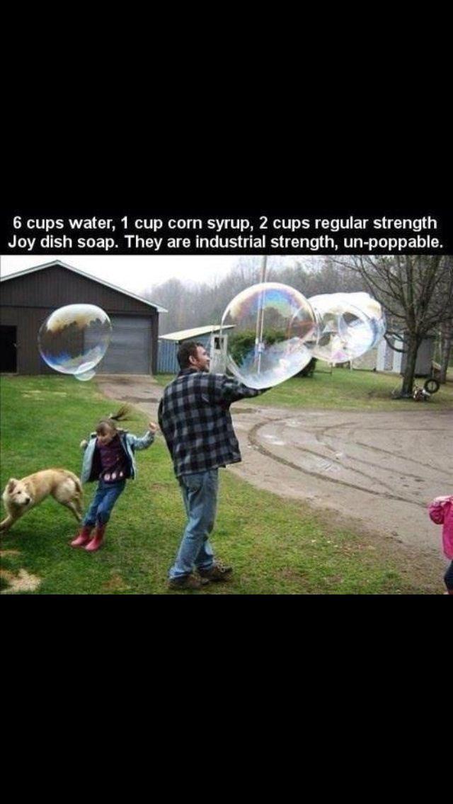 DIY bubbles...DONE more like cluster bubbles!